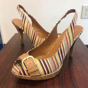Candie's Kennedy Stripe heels